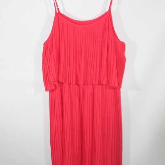special for shoe new release crazy price Forever 21 Coral Pink Short Pleated Mini Dress L NWT